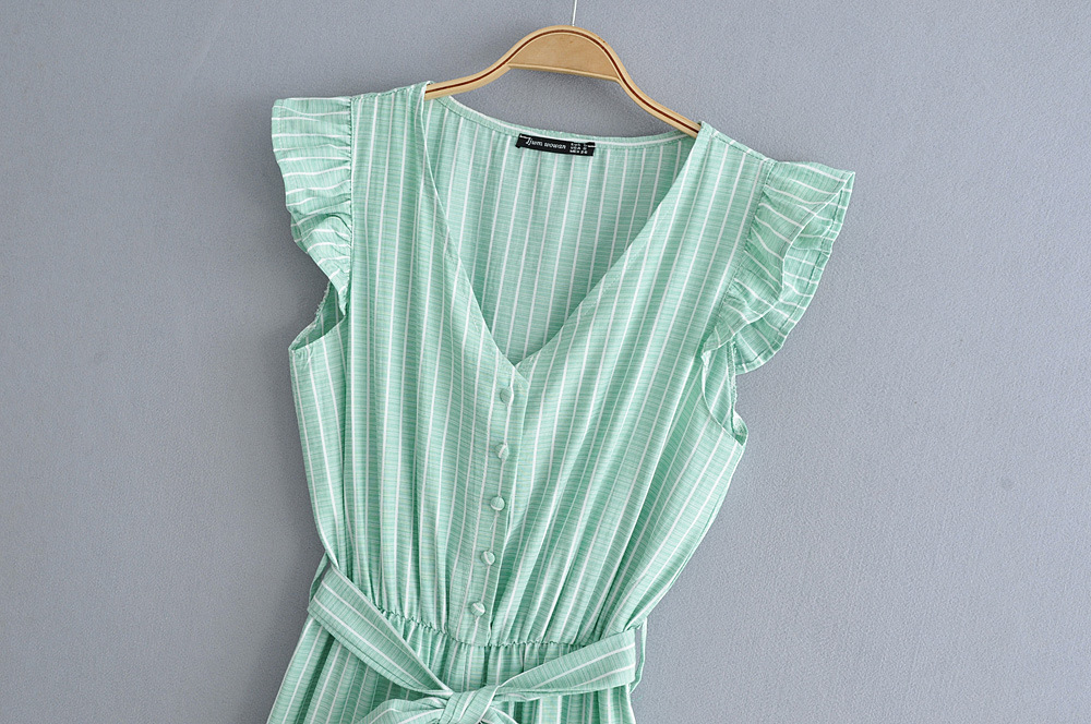 Ruffled striped print jumpsuit NHAM151681