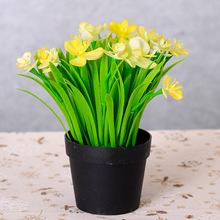 仿真植物裝飾花 小盆栽馬蹄蓮盆景 客廳擺件居家裝飾假花