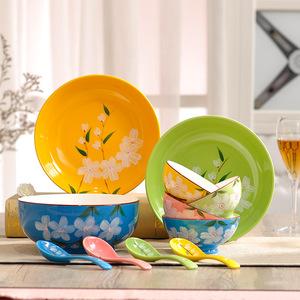 【礼品】日式陶瓷餐具 瓷碗勺子盘子礼盒 元旦公司小礼物套装定制