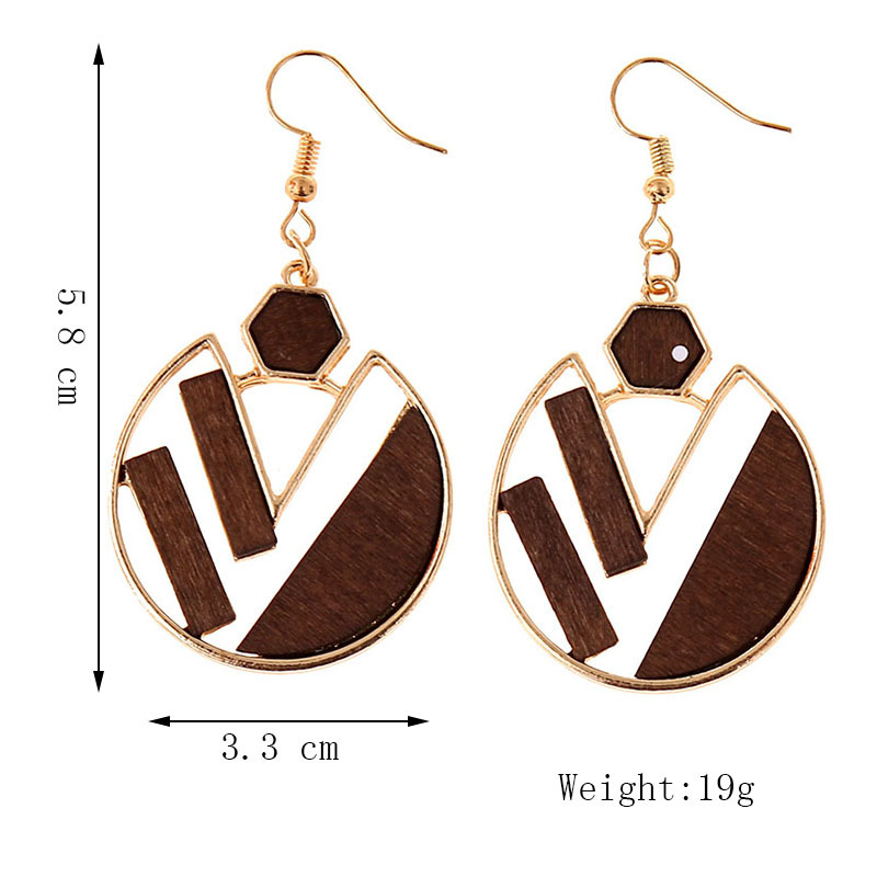 earrings geometric exaggerated alloy earrings new round jewelry NHLA204619