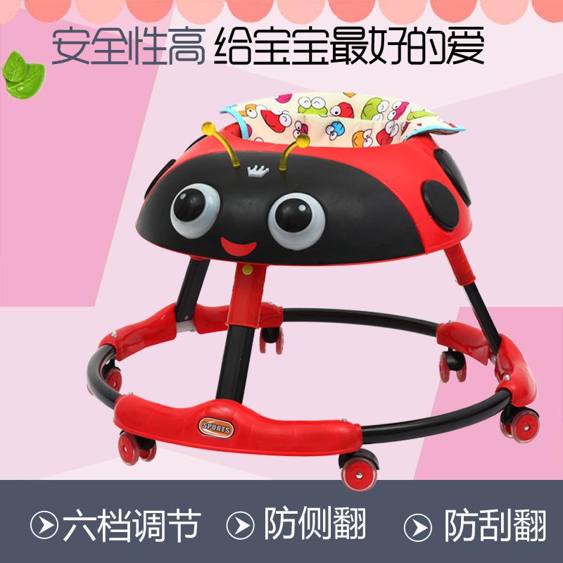 新款婴儿学步车助步车 6-12个月宝宝滑行车带音乐学步车批发