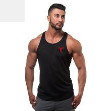 跨境專供GYM印花男士健身健美純棉健身汗衫健身男式背心 肌肉背心