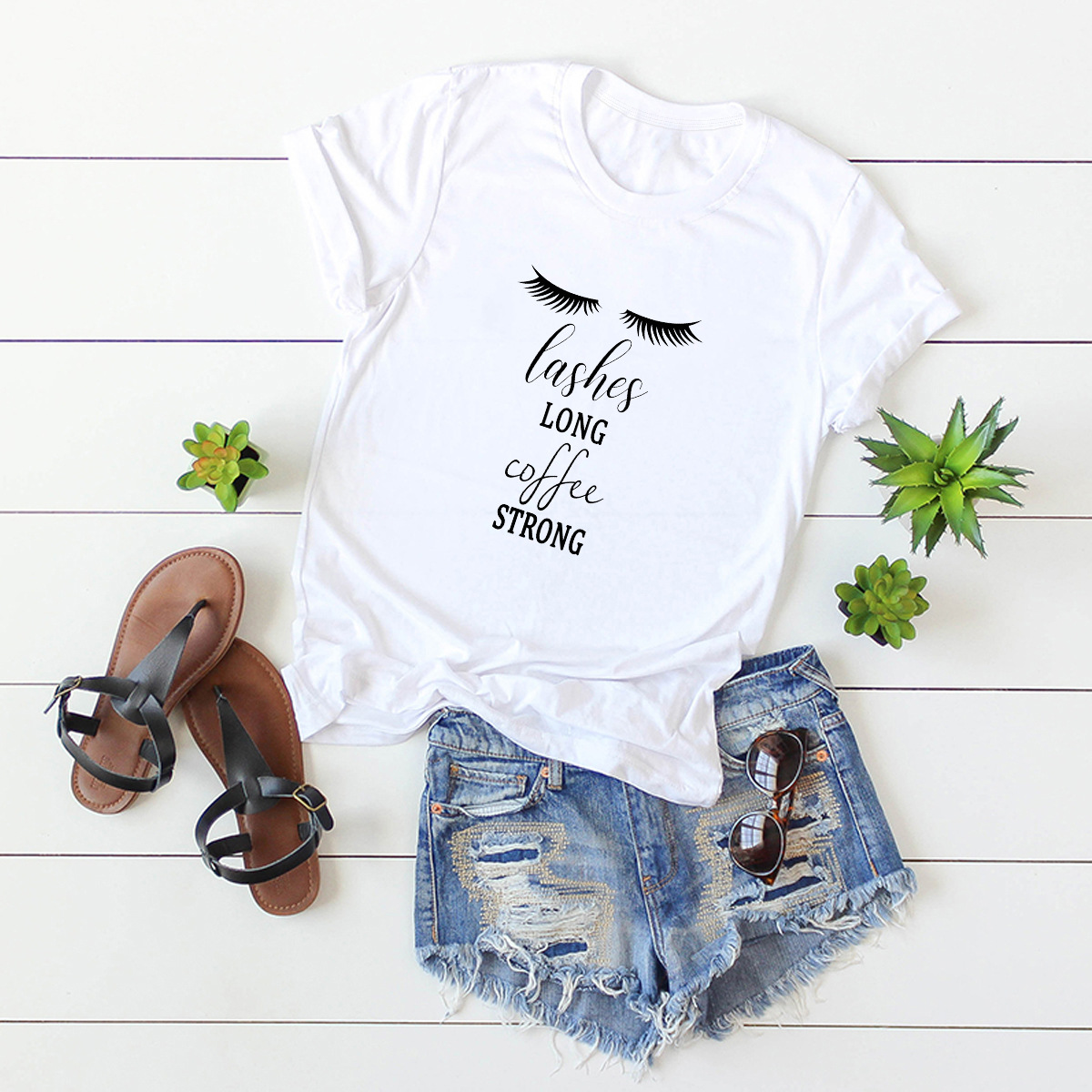 short-sleeved great mother letter plus size printing T-shirts  NSSN3794