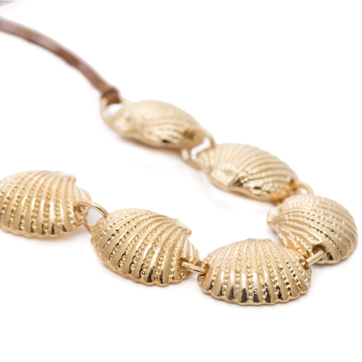 Creative fan-shaped shell adjustable necklace NHXR141875