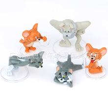 猫和老鼠公仔手办 5款汤姆杰瑞 扭蛋微景观玩偶 蛋糕装饰摆件模型