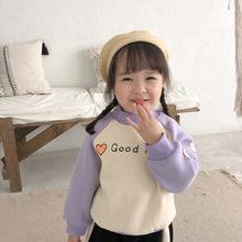 澳毛絨加厚!卡通袖撞色衛衣 兒童冬款套頭衫 外貿童裝批發 6753