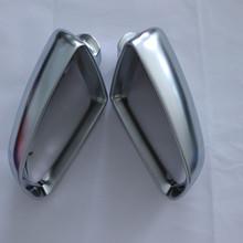 适用奥迪A3A4 A6L 04至08 改装电镀镀铬亚光后视镜倒车镜壳银耳B7