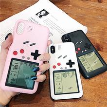 ?#36824;鹸手机壳网红同款iphone8plus俄罗斯方块游戏机ip