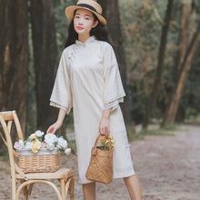 民国倒大袖旗袍年轻款少女日常装中国古风女学生宽松改良版连衣裙