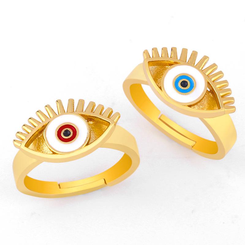 AliExpress wish hot 2019 creative European and American style eye drops oil ring ring female cross-border accessories rij11 NHAS173682