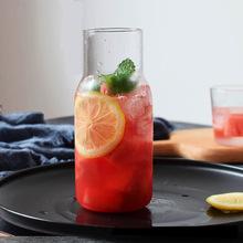 创意款夏季日式一壶一杯果汁咖啡杯壶?#35813;?耐热玻璃冷水瓶牛奶杯