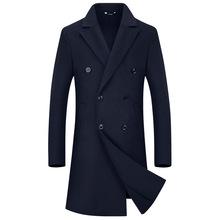 2019新款毛呢大衣中长款羊绒羊毛大衣男士双面尼妮子冬季外套男