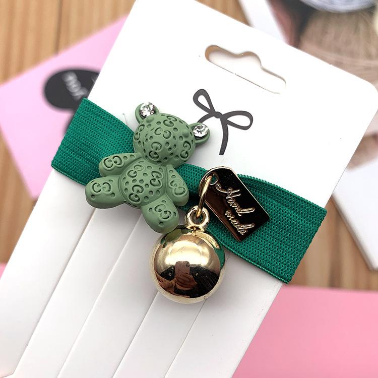 Headband hair accessories Korean bear hair rope headband bracelet dual-use wide rubber band knot NHSA202480