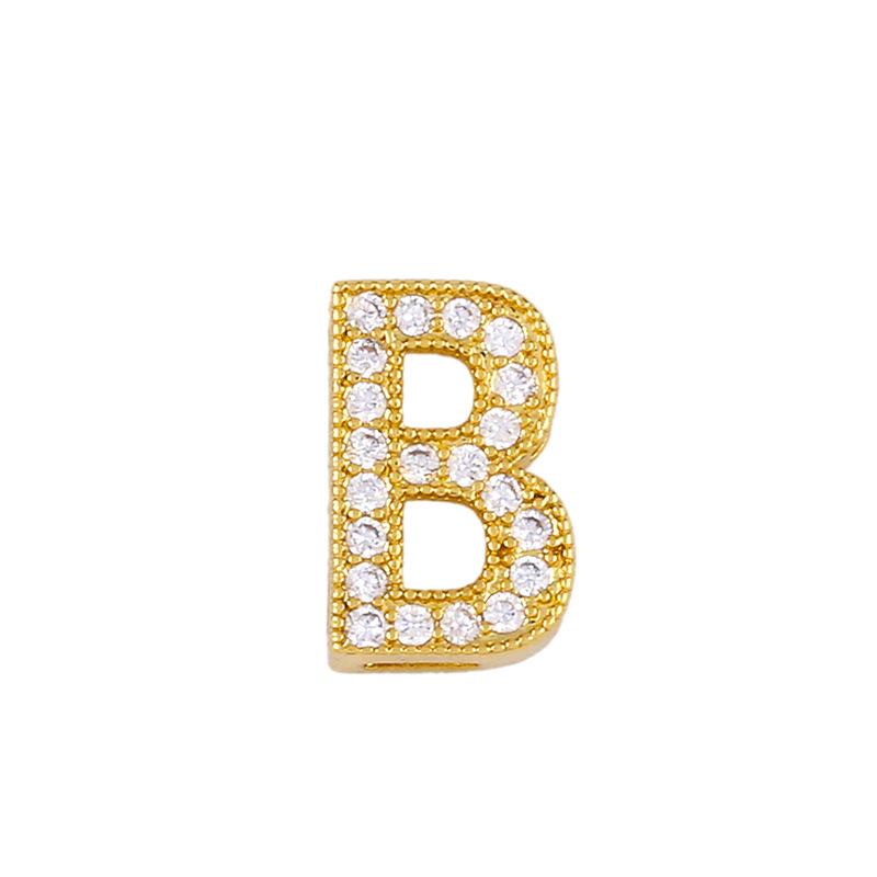 New Accessories Letter Necklace Diamond Letter Pendant Couple Necklace NHAS195355