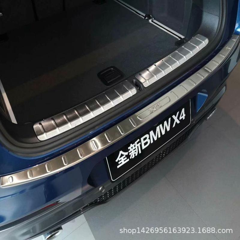 19宝马X4后护板改装门槛条 适用宝马X4后备箱亮条护板迎宾踏板T