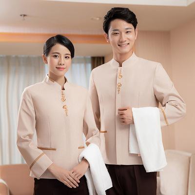 保洁服短袖夏装薄款物业酒店家政阿姨服装客房清洁工作服长袖
