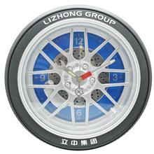 14寸大輪胎掛鐘,仿真PVC輪胎材料創意個性汽車輪胎掛鐘 創意鐘