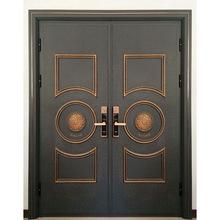 厂家定制加厚不锈钢镀铜防盗别墅进户大门后门铜门母子装甲门