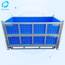 定制多功能金屬折疊式鋼板箱 車間重型加厚折疊式鋼板箱廠家