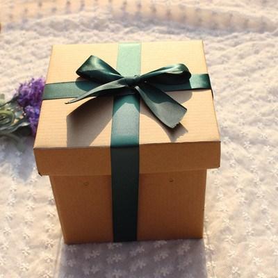 商务超大号零食特大礼品盒正方形包装篮球抱枕黑色欧式盒子复古风