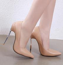 2019速卖通外贸新款女鞋欧美大码尖头细高跟经典款单鞋my225-5
