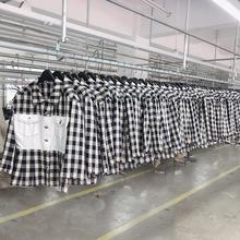 2019秋季新款收腰拼接衬衫式韩版格子外套女短款七?#20013;?#20551;两件上衣