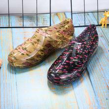厂家直销 新款元宝雨鞋 女士低筒时尚雨靴水鞋 成人防滑耐磨雨鞋