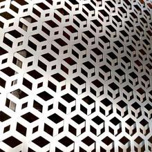 廠家生產幕墻鋁板沖孔網六角孔篩網蜂窩狀裝飾網外墻沖孔網板