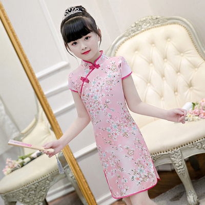Cheongsam for kids Cheongsam children Chinese Dress country girl Qipao skirt baby children Chinese Dress national cheongsam