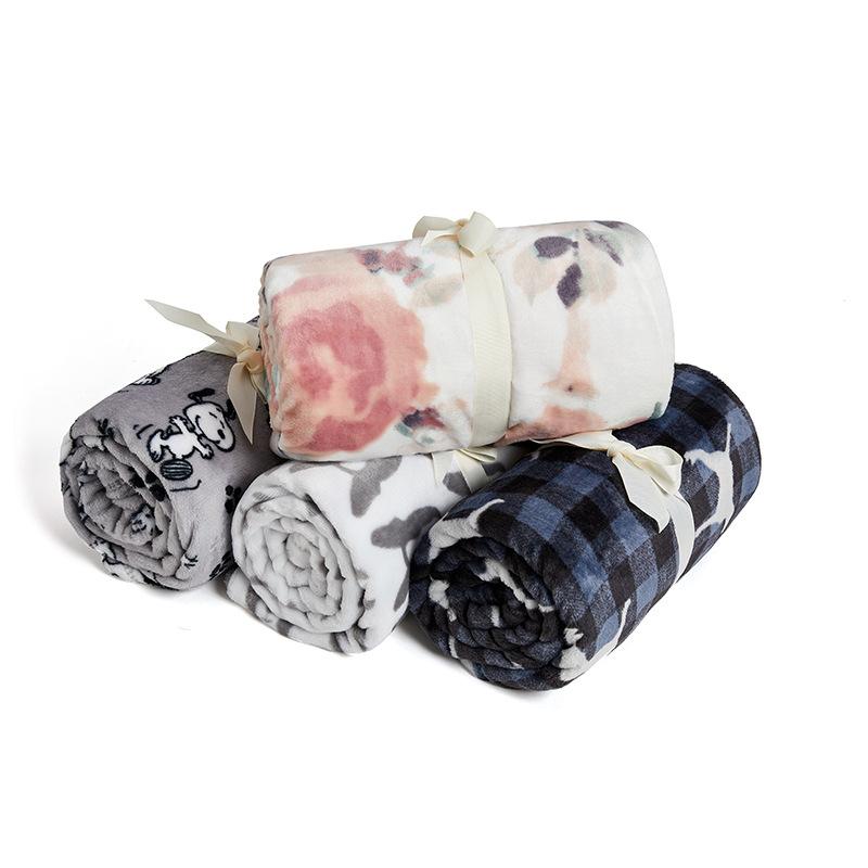 lively新款印花法兰绒毛毯单人秋冬空调盖毯儿童婴儿沙发午睡毯子