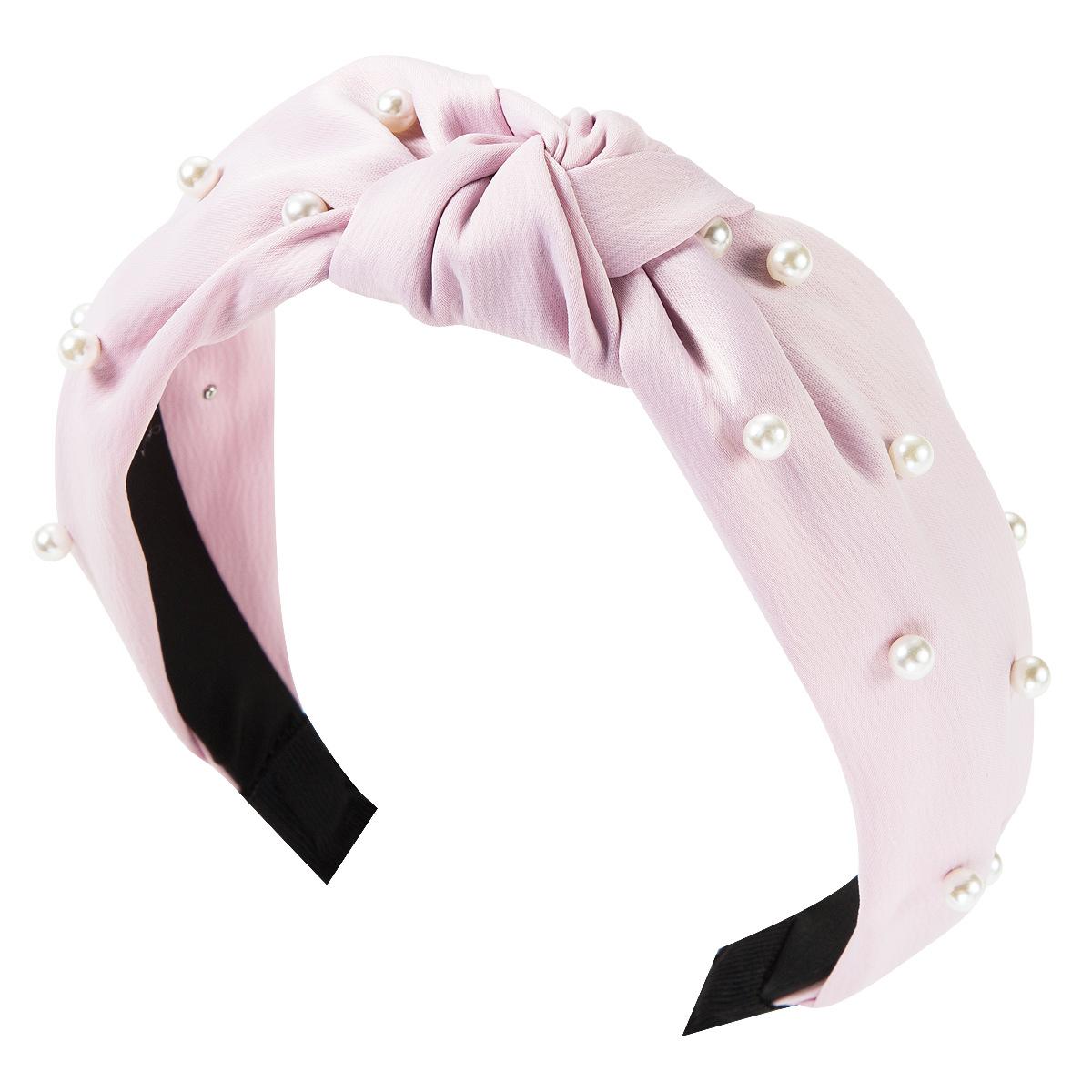 Fashion cloth two-tone pearl headband NHJE149139