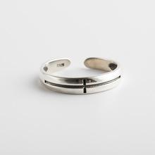 韓版韓式新款s925純銀戒指女式素銀簡約開口銀手指環潮流時尚手飾