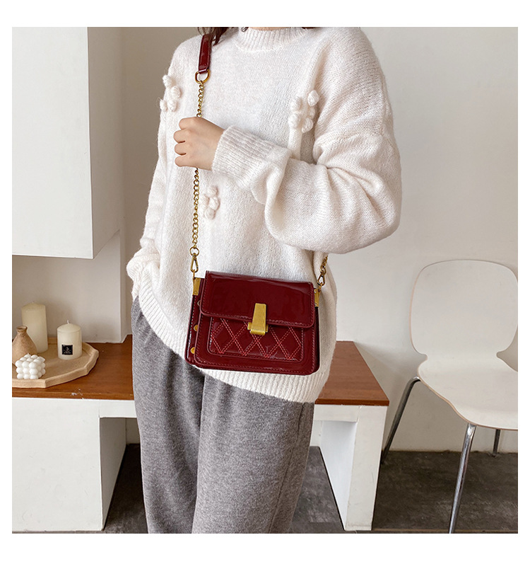 wholesale ladies bags new rhombus messenger bags women bags winter fashion small square bags NHTC185311