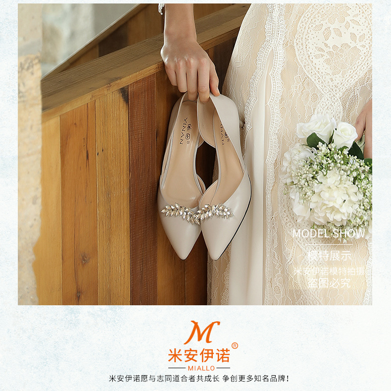 Hot selling fashion alloy diamond shoes flower bride wedding accessories NHHS259867