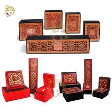 源頭廠家直銷 鏤空珠寶首飾禮品盒手鐲掛件項鏈絨布包裝盒 可印字