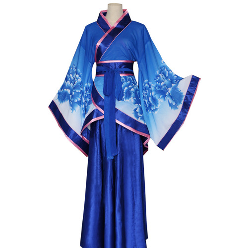 Chinese Folk Dance Dress Han costume female adult ancient national traditional wide sleeve Han costume stage performance Costume