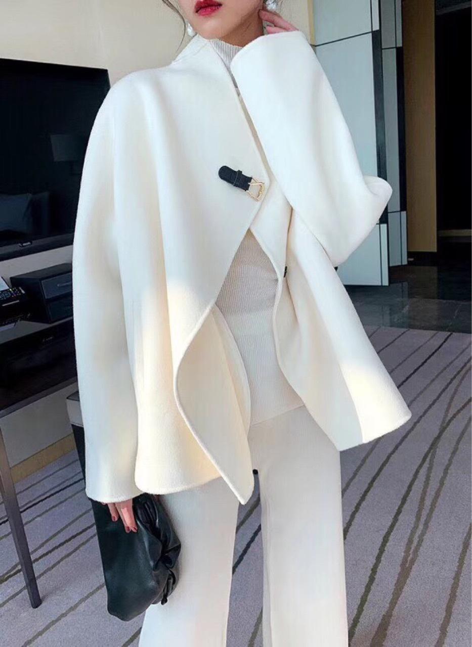 澳大利亚羊毛料 ?短款廓形双面毛尼外套女 濮院杭州双面羊绒大衣