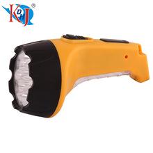 熱銷家用照明LED強光充電探照燈應急手電筒手握式便攜手電筒