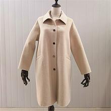 厂家直销2019全手工缝纫羊毛大衣双面 赫本风气质双面呢大衣