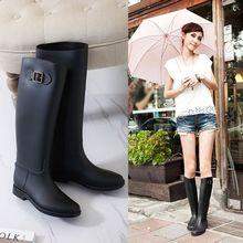 顯瘦韓國高筒雨鞋女成人時尚水鞋長筒雨靴防滑膠鞋套鞋馬靴水靴