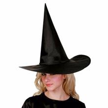 万圣节巫婆帽子 巫师帽 牛津布黑色女巫帽 cosplay哈利波特帽批发
