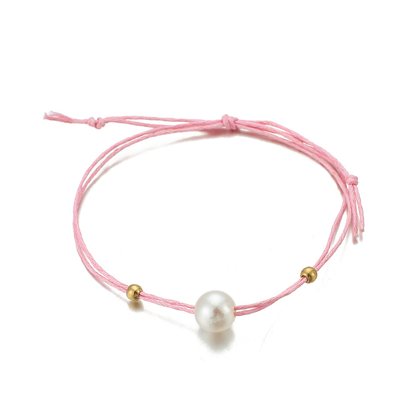 Popular accessories Bohemian pearl gold shell line rope anklet set NHGY195399