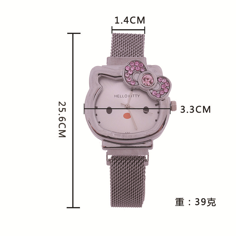 Cute children's watch girl student cartoon children's watch sucking iron mesh belt watch NHMM202175