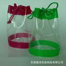 東莞工廠定制PVC袋玩具包裝袋透明塑料袋束繩袋圓型高周波電壓袋