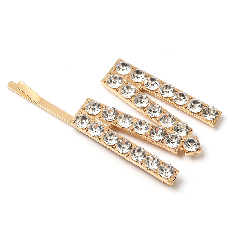 New candy color rhinestone letters hair clips NHJJ148776