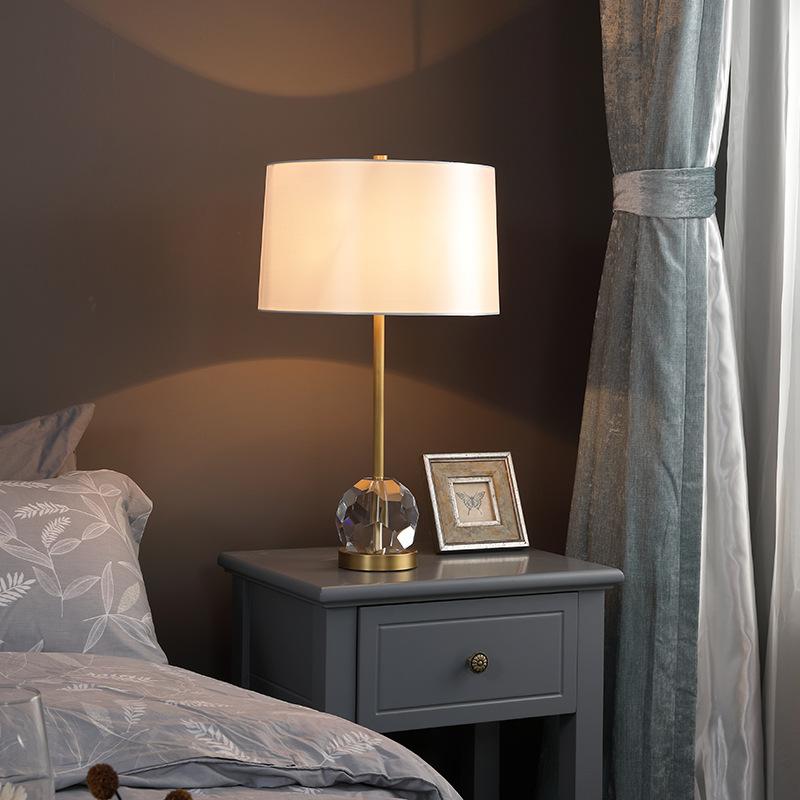 全铜后现代北欧床头柜台灯客厅卧室书房简约大气家用灯具灯饰1295