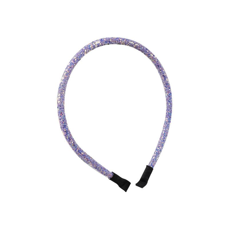 Fashion youth vitality plastic sequins headband female color fine side wild headband girl heart hair accessories NHLN177038