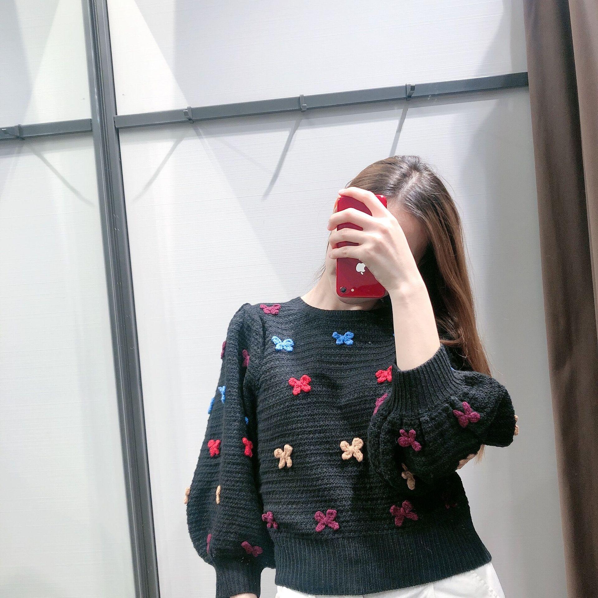 Temperament Women's Bow Knit Sweater NHAM175661