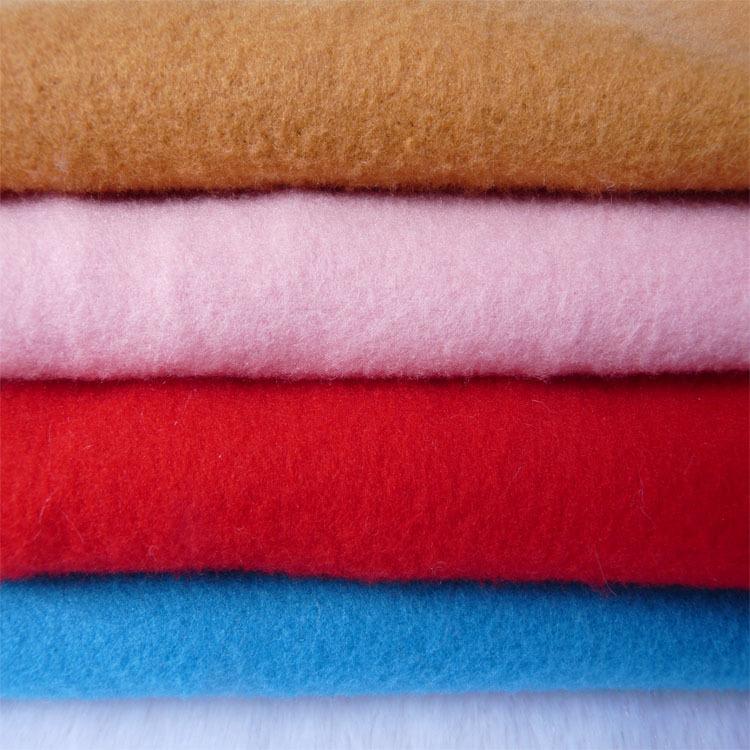 现货多色单面刷毛布服装鞋帽起毛布料套玩具抓毛布包袋内里面料
