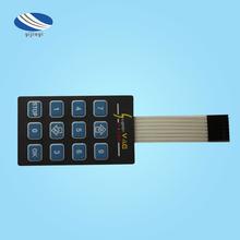 深圳生产厂家直销带弹片手感型薄膜开关薄膜开关面板按键面板